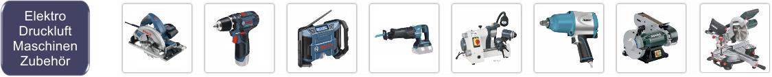 Elkektro-, Druckluftmaschinen und Zubehör